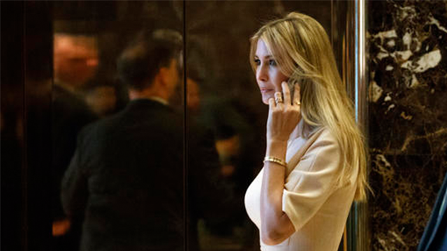 (AP Photo/ Evan Vucci, File). FILE - In this Nov. 11, 2016 file photo, Ivanka Trump, daughter of President-elect Donald Trump, arrives at Trump Tower in New York. Nordstrom shares sunk after President Trump tweeted that the department store chain had t...