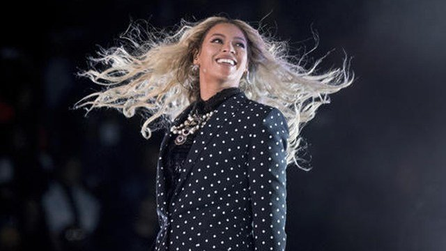 (AP Photo/Andrew Harnik, File). FILE - This Nov. 4, 2016 file photo shows Beyonce performing at a Get Out the Vote concert for Democratic presidential candidate Hillary Clinton in Cleveland.
