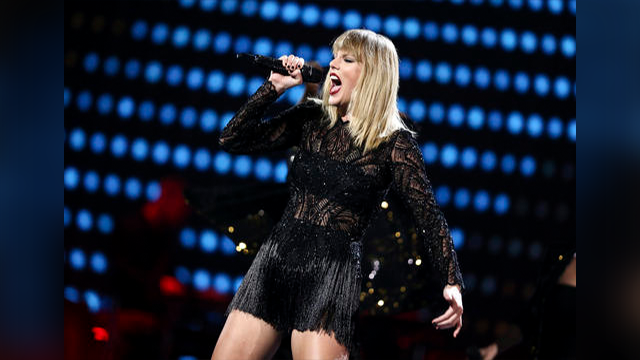 (Photo by John Salangsang/Invision/AP). Taylor Swift performs at DIRECTV NOW Super Saturday Night Concert at Club Nomadic on Saturday, Feb. 4, 2017 in Houston, Texas.