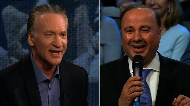 """Bill Maher, the acerbic comedian was quick to fire back during a town hall Thursday on Van Jones' CNN show, """"The Messy Truth,"""" after a man in the audience asked, """"Why can't you guys in the media and Hollywood give him (President Trump) some slack?"""""""