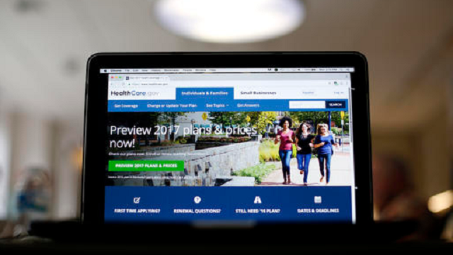 In this Oct. 24, 2016 file photo, The HealthCare.gov 2017 web site home page as seen in Washington.