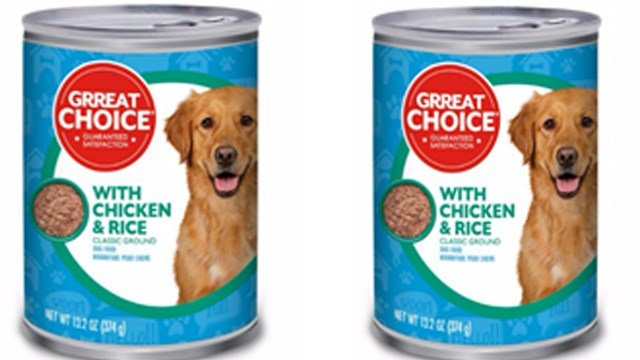 PetSmart has issued a voluntary recall of one production lot of its Grreat Choice® Adult Dog Food sold on PetSmart.com, Pet360.com, PetFoodDirect.com and in nationwide PetSmart retail stores. (Photo: FDA)