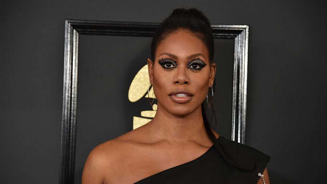 Actress Laverne Cox speaks about Gavin Grimm at the Grammys