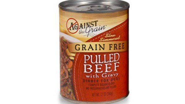 Against the Grain Pet Food is recalling one lot of Against the Grain Pulled Beef with Gravy Dinner for Dogs that was manufactured and distributed in 2015. (Photo: FDA)