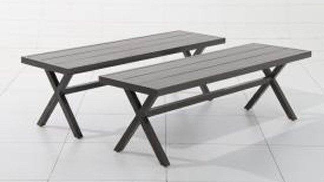 Target is recalling their patio benches after discovering they can collapse while being used, posing a fall hazard to consumers. About 1,300 units have been recalled. (Photo: US CPSC)