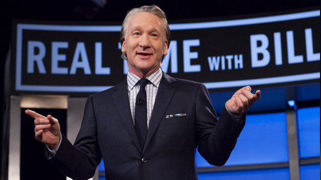 "(AP Photo) This April 8, 2016 photo released by HBO shows Bill Maher, host of ""Real Time with Bill Maher,"" during a broadcast of the show in Los Angeles. Controversial Breitbart editor Milo Yiannopoulos will join Maher on his political talk show."