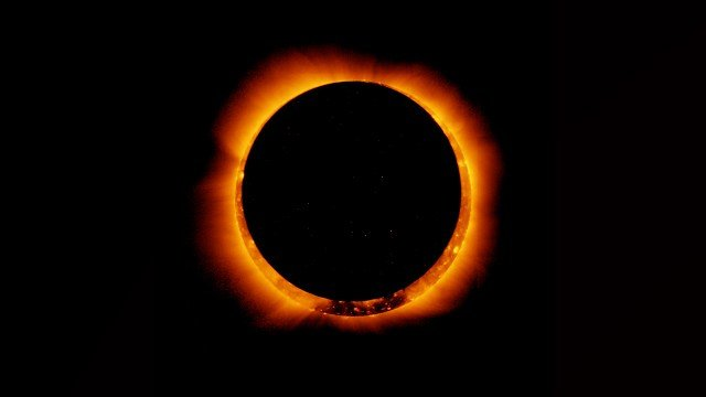 """People in the Southern Hemisphere observed a """"ring of fire"""" eclipse on Sunday. (Source: NASA via Facebook)"""