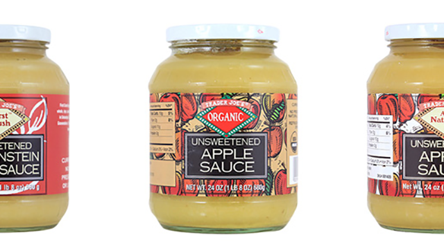 Trader Joe's announced a voluntary recall on Sunday for three different types of apple sauces because the jars may contain pieces of glass.  (Source: Trader Joe's)