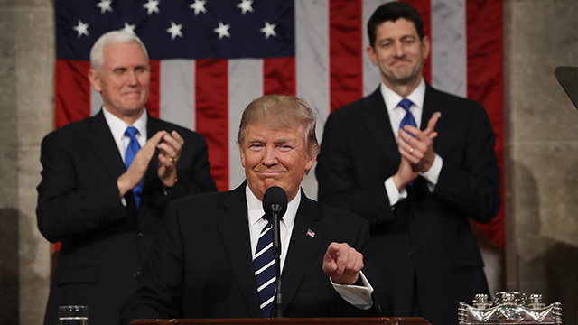 Trump delivers first State of the Union address