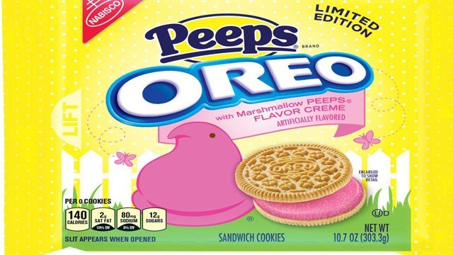 If you're eating Peeps Oreos, you might want to look before you flush.