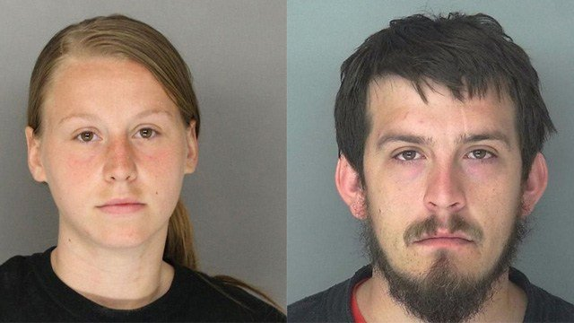 "Jose ""Joe"" Torres (right) and Kayla Norton (left) were sentenced Monday, Feb. 28, 2017, for their role in terrorizing an African-American group who was attending a black child's birthday party in Douglas County, GA."