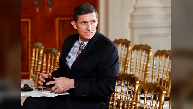 (AP Photo/Carolyn Kaster, File) FILE - In this Feb. 10, 2017 file photo, then-National Security Adviser Michael Flynn sits in the East Room of the White House in Washington. Documents released in a congressional inquiry show Flynn was paid more than $...