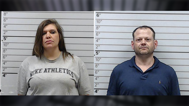 (Source: Lee County Sheriff's Department) Courtney Ford, 30, of Nettleton, is accused of hiding methamphetamine in the binding of a Bible and dropping it off March 16 for inmate Stephen Jason Estes, 41, of Plantersville.