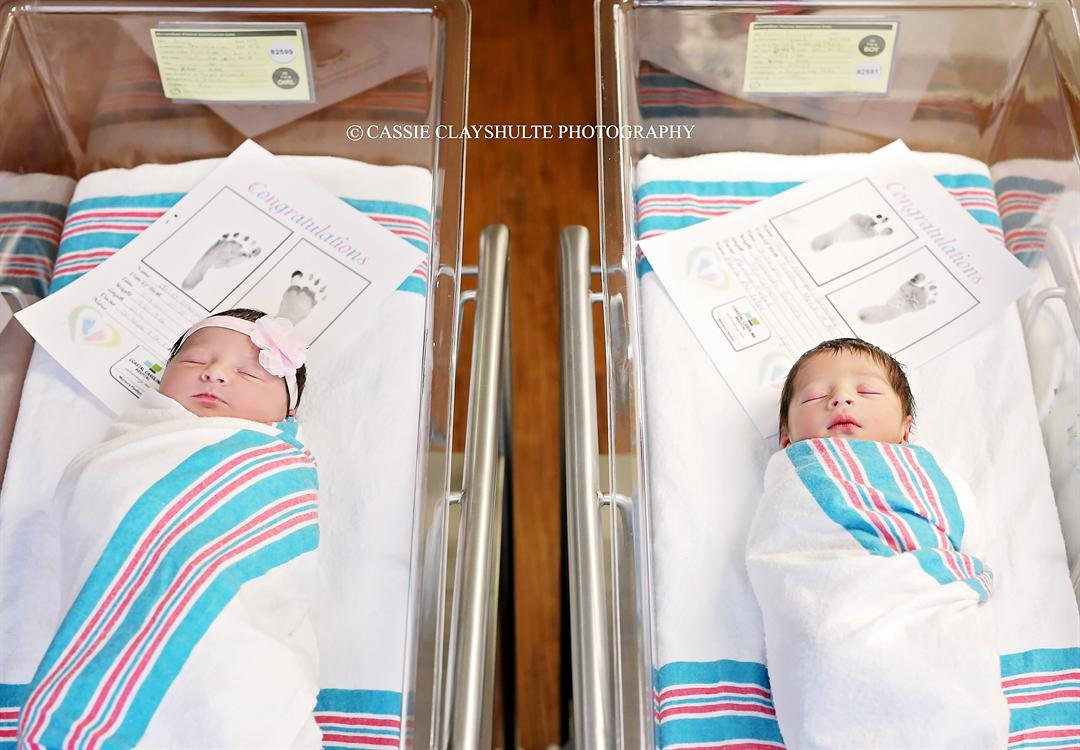 Destined to fall in love? Two babies named Romeo and Juliet