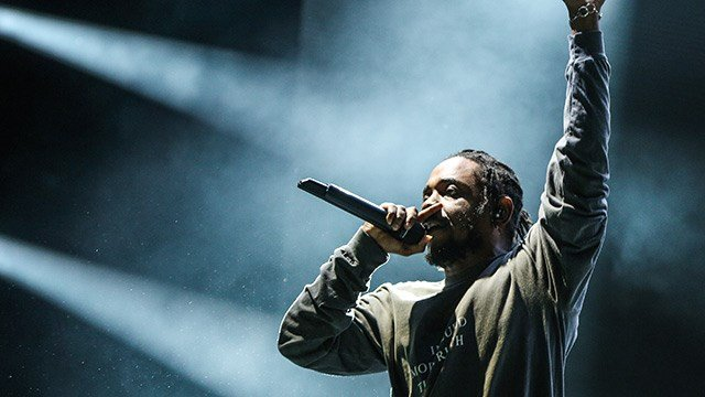 Kendrick Lamar performs at FYF Fest at Exposition Park on Saturday, Aug. 27, 2016, in Los Angeles. (Photo by Rich Fury/Invision/AP)