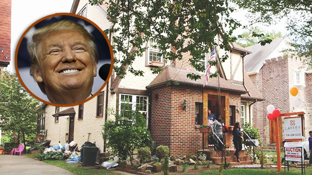 President Donald Trump's modest childhood home sold for $2.14 million on March 23, after an investor flipped the property to an unnamed bidder. (Photo Credit: CNN/MEREDITH)