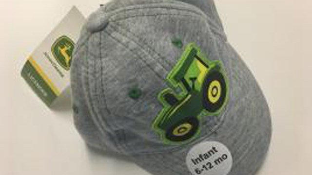 Sock and Accessory is recalling their infant caps after discovering the button on the top of the cap can detach, posing a choke hazard. About 14,500 have been recalled. (Photo: U.S CPSC)