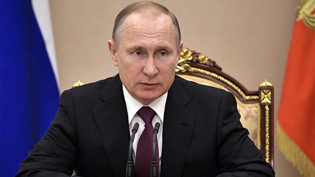 Russian President Vladimir Putin heads the Security Council meeting in Moscow, Russia, Friday, March 31, 2017. (Alexei Nikolsky/Sputnik, Kremlin Pool Photo via AP)