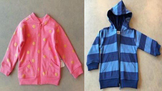 Fred Meyer is recalling their children's hooded sweatshirts and girl's bomber jackets due to choking and laceration hazards. (Photo: U.S CPSC)