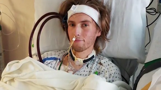 Riley Hancey, 19, was denied a double-lung transplant because of his marijuana use. (Source: KSL via CNN)