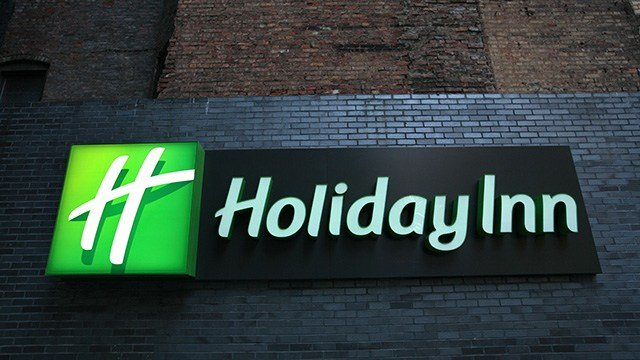A Holiday Inn sign is shown Monday, Nov. 10, 2008 in New York. (AP Photo/Mark Lennihan)