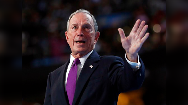 (AP Photo/Carolyn Kaster, File). FILE - In this Wednesday, July 27, 2016, file photo, former New York City Mayor Michael Bloomberg waves after speaking to delegates during the third day session of the Democratic National Convention in Philadelphia. The...