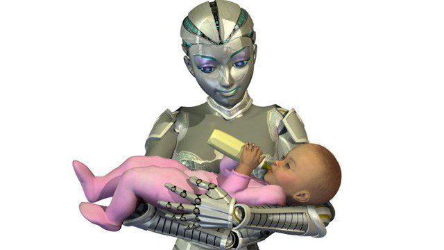 Could a robot raise a child without the need for a mother? Shutterstock/Linda Bucklin