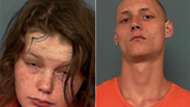 Charles Elliott, 18, (right) and Erica Michelle Shryock, 19, (left) are each facing first-degree charges of endangering the welfare of a minor. (Source: Columbia County Sheriff's Office)