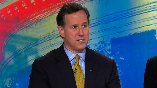 (Source: CNN) Former senator Rick Santorum sent a message to President Trump to stop tweeting, saying if Trump tweets to complain about things, he's going to be sidetracked.