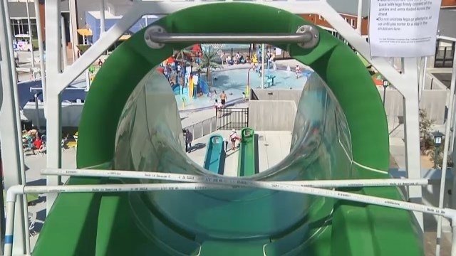 VIDEO: 10-year-old boy falls off giant water slide in California