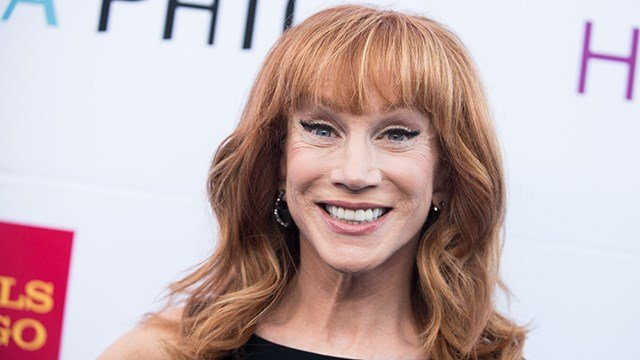 Kathy Griffin arrives at the Kristin Chenoweth, The Go-Go's and Pink Martini Inductions Into The Hollywood Bowl Hall of Fame on Saturday, June 21, 2014, in Los Angeles. (Photo by Richard Shotwell/Invision/AP)