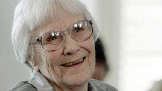 In this Aug. 20, 2007, file photo, author Harper Lee smiles during a ceremony honoring the four new members of the Alabama Academy of Honor at the Capitol in Montgomery, Ala. (AP Photo/Rob Carr, File)