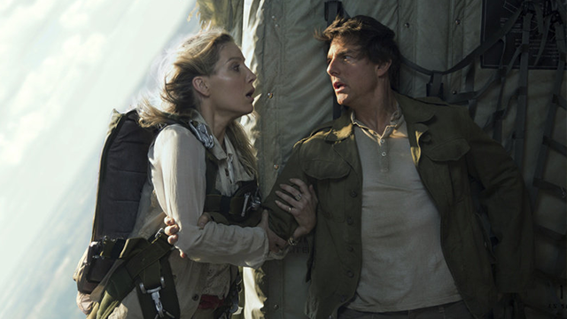 """In this image released by Universal Pictures, Annabelle Wallis, left, and Tom Cruise appear in a scene from, """"The Mummy."""" (Chiabella James/Universal Pictures via AP)"""