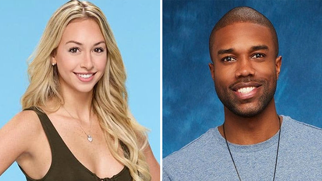 """DeMario Jackson, right, and Corinne Olympios are contestants on """"The Bachelor"""" spinoff show """"Bachelor in Paradise."""" (AP Photo via ABC)"""