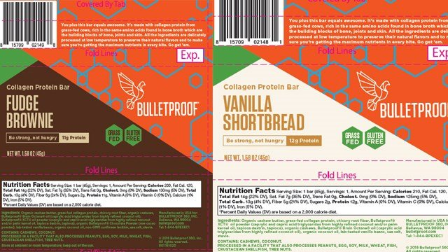 """Bulletproof 360, Inc. (""""Bulletproof"""") of Bellevue, Washington is recalling five Collagen Protein Bar and Bite products because they have the potential to be contaminated withListeria monocytogenes."""