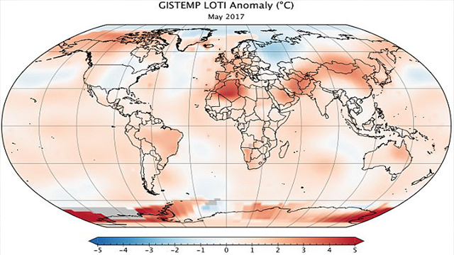 Last month was second hottest May on record