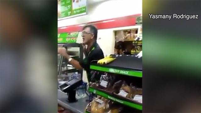 Video of 7-Eleven employee berating Spanish-speaking customer in Florida is going viral. (Source: Yasmany Rodriguez/WFTS via CNN)