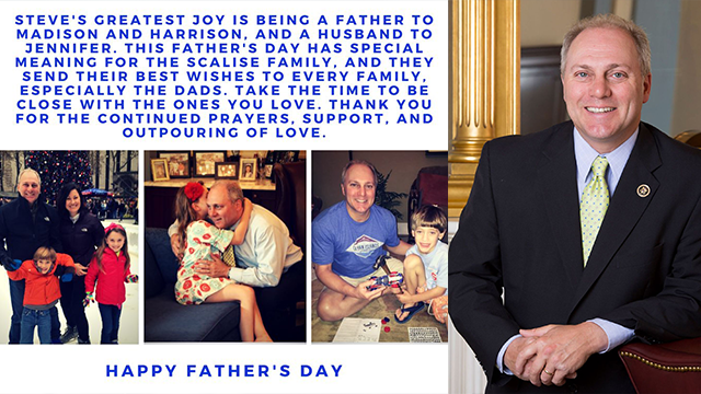 Wounded congressman sends Father's Day message - CBS46 News