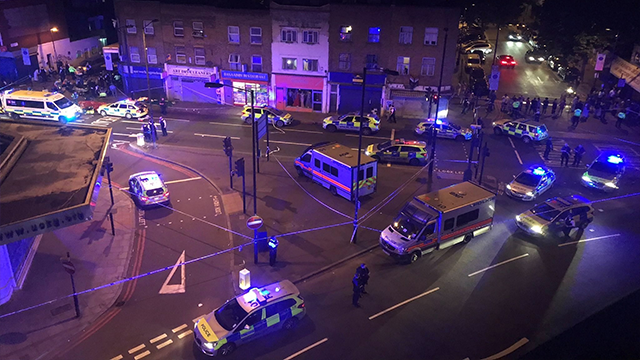 "(Source: CNN) A vehicle hit pedestrians in London and there are ""a number of casualties being worked on at the scene,"" according to authorities."
