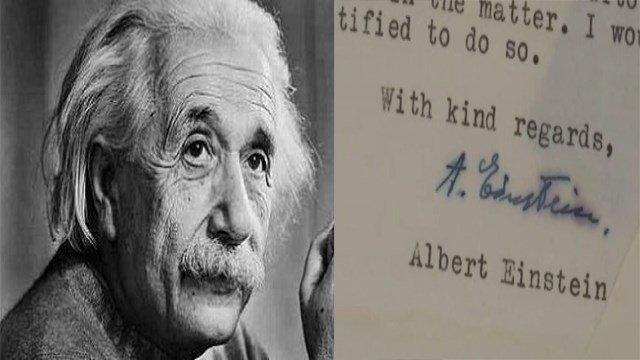 A collection of letters written by Albert Einstein is set to go to auction next week, offering a new glimpse at the Nobel-winning physicist's views on God, McCarthyism and what was then the newly established state of Israel. (Photo: AP)