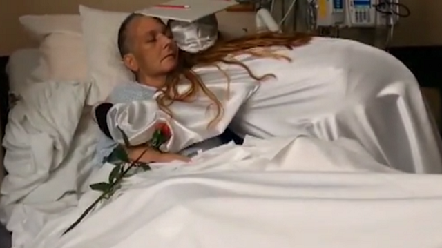 Dying mother gets wish to see daughter graduate at hospital