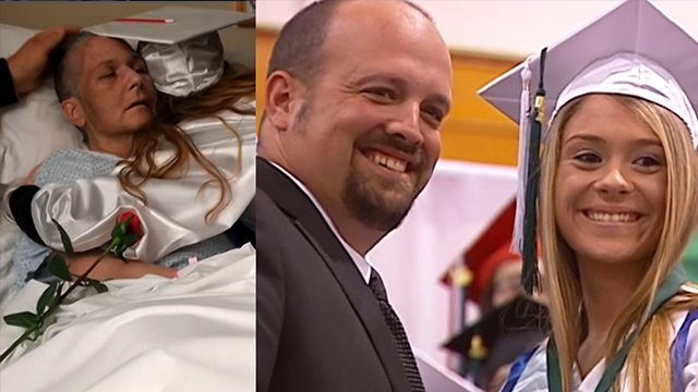 Dying mother sees daughter graduate college from hospital