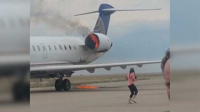 SkyWest jet engine catches fire at Denver airport, no injuries reported