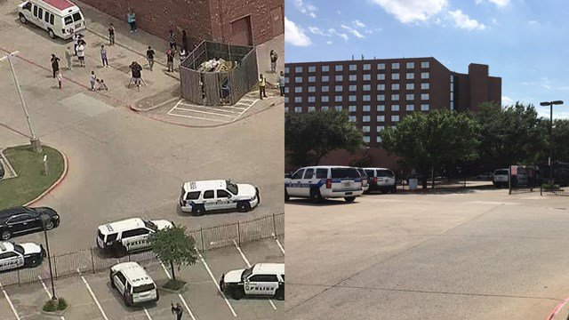 Police respond to gunshots at Dallas hotel