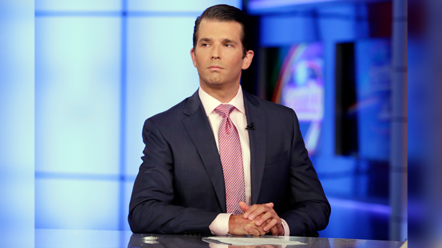 (AP Photo/Richard Drew) Donald Trump Jr. is interviewed by host Sean Hannity on his Fox News Channel television program, in New York Tuesday, July 11, 2017. Donald Trump Jr. eagerly accepted help from what was described to him as a Russian government...