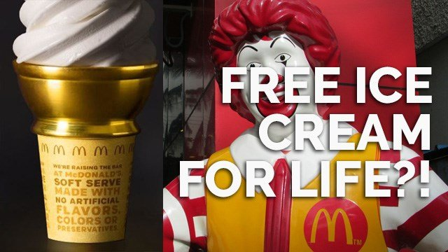 There are a few things that can bring a smile to everyone's face, but ice cream is one of them. To celebrate National Ice Cream Day on Sunday, McDonald's is offering a free vanilla soft serve cone to customers. (Photo: McDonalds)