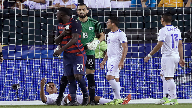 Skirmishing for position at the goal line ahead of a corner kick, Jozy Altidore could not believe what occurred: El Salvador defender Henry Romero bit the back of his left shoulder, then twisted his nipple.