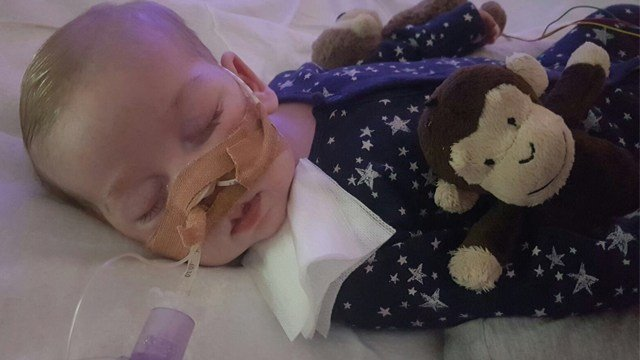 Charlie Gard's mother returned to a London court Tuesday to ask a judge to let her and the baby's father take their critically ill son home to die.
