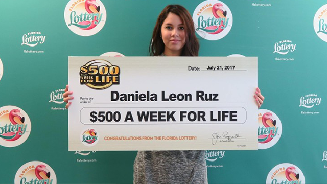 (Source: CNN) Daniela Leon Ruz, of Orlando, won the top prize on the $500 a week for life scratch-off game.