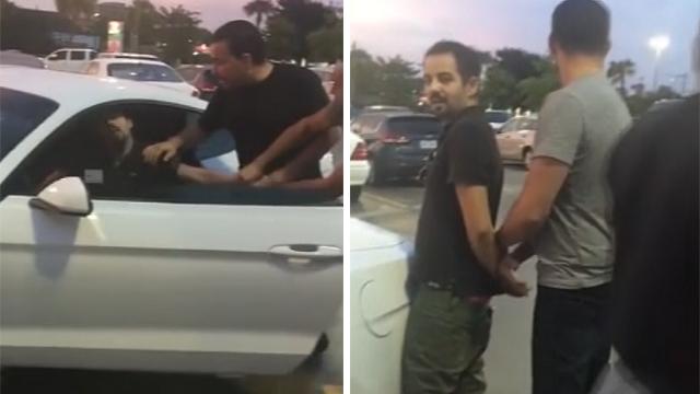 Caught on camera: Citizen arrests suspected drunken driver